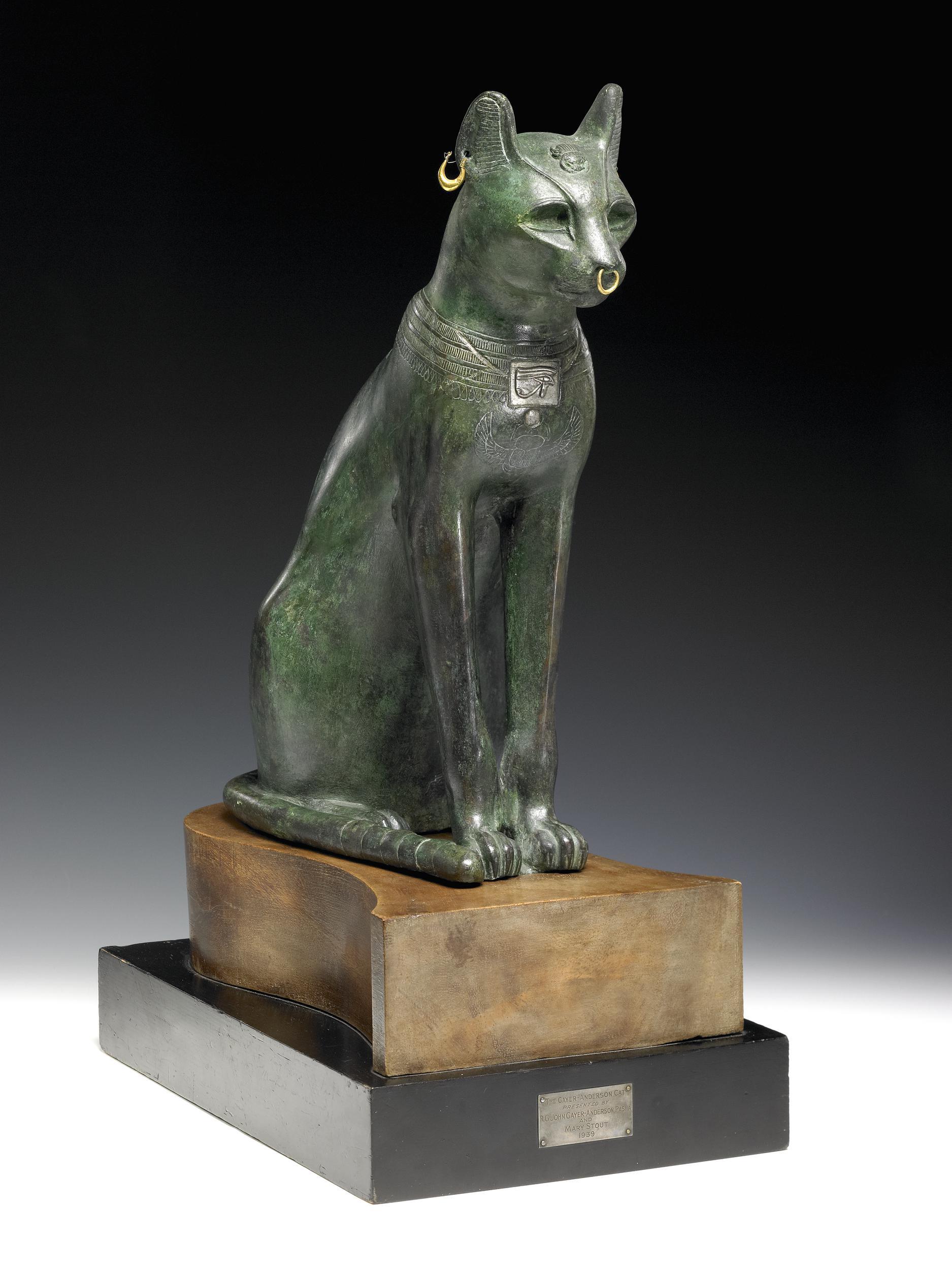 Gato gayer-anderson, siglo VII A.C. Foto extraída del British Museum